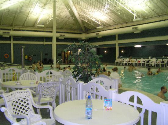 Temple Gardens Hotel & Spa: Pool from Morningsides Cafe