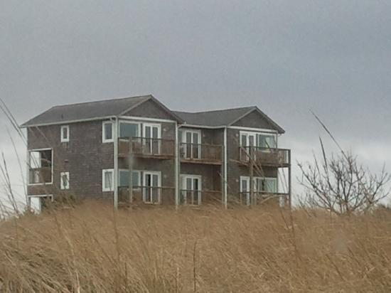 Inn at Discovery Coast: View of the Inn from the beach