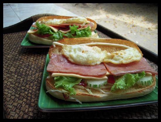 Bamboo Bungalows : Frühstück