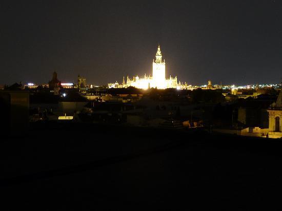 Catalonia Giralda Hotel: Aussicht vom Dach bei Nacht