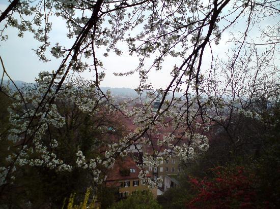 Graz, Austria: Blick vom Schlossberg im Früjahr