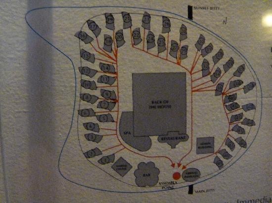 Banyan Tree Vabbinfaru: Emplacement des villa sur l'île