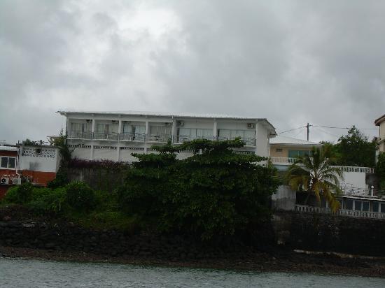 Hotel Le Rocher: vue du lagon