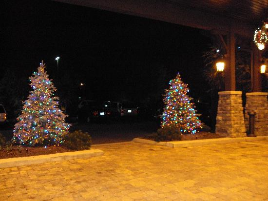 The Inn at Christmas Place: outside of the front entrance