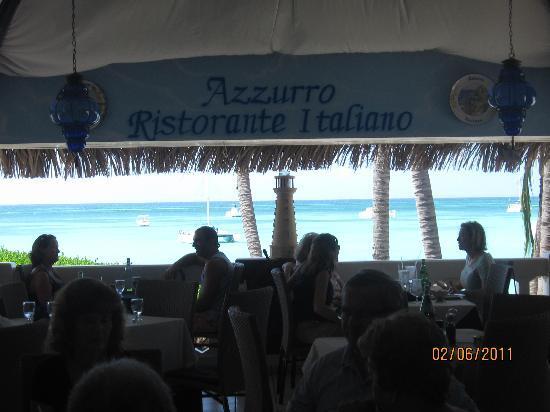 Azzurro Ristorante Italiano: Views