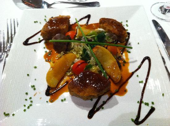 Domaine de l'Amiraute : Un exemple de plat servi à l'hotel