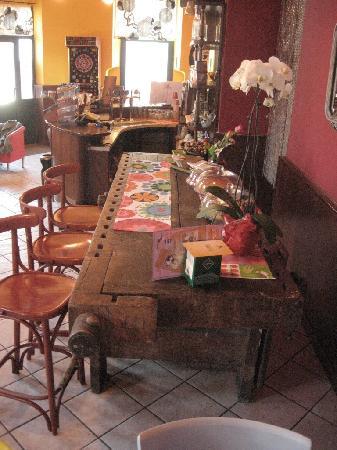Cantu, Italie : il tavolo da falegname di fine 1800