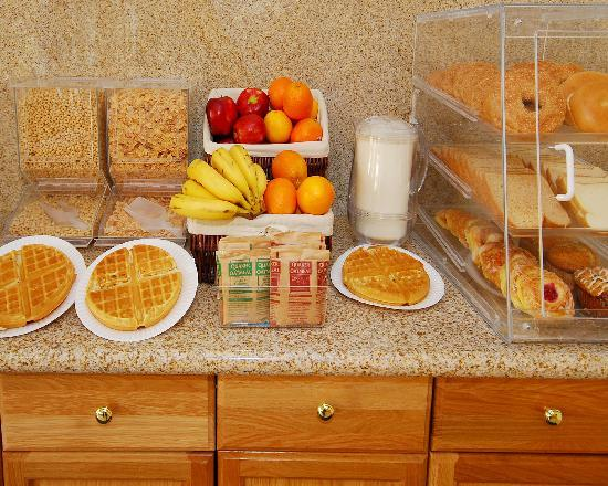"Quality Inn & Suites: Free Deluxe ""Hot"" Breakfast included in your stay."