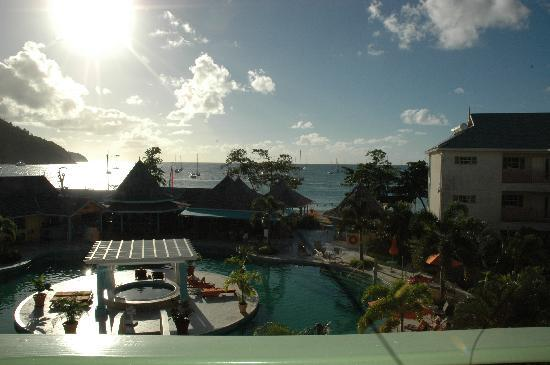 Bay Gardens Beach Resort: View from our room