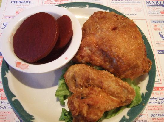 Southern Kitchen: Fried chicken (buttered beets as side dish)