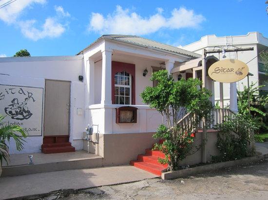 Sitar Indian Restaurant: Street view, daytime