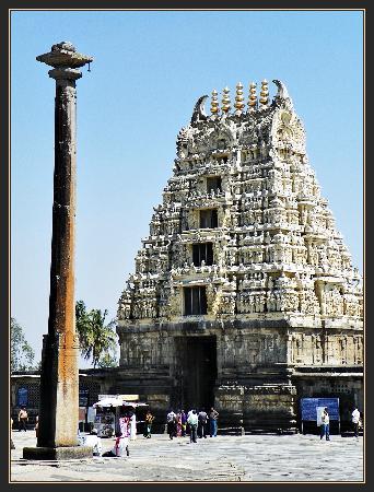 Chennakesava Temple : Belur - Gopuram and Dwajasthambam