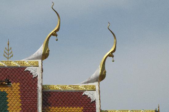 Phuket Town, Thailand: Detail eines Tempels