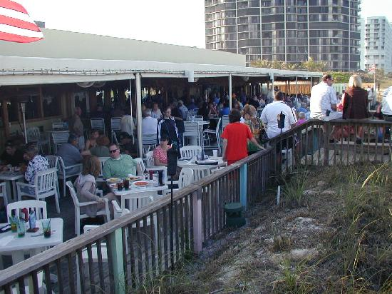 Shucker's : The view from the TiKi bar is breathtaking.