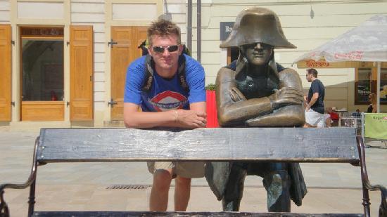 Bratislava, Slovacchia: Statua di Napoleone