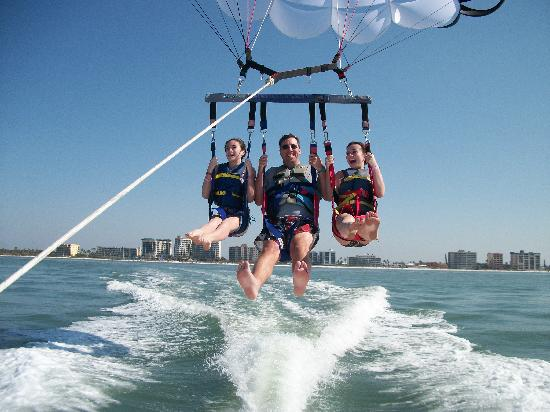 Parasailling Fort Meyers Beach Holiday Water Sports