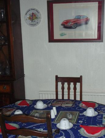 Ellan Vannin Guesthouse: Breakfast table