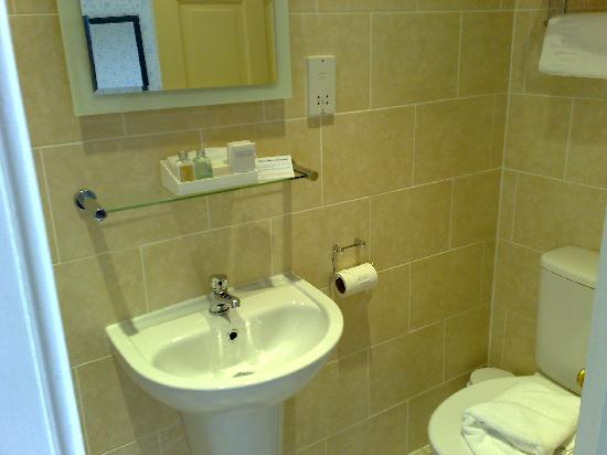26 The Crescent: small but perfectly formed toilet and shower room.