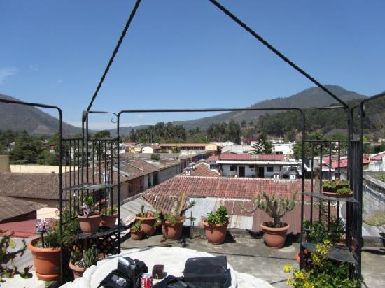 Posada La Merced Antigua: on the roof tarace