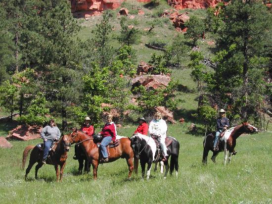 Diamond L Guest Ranch : Enjoying a ride