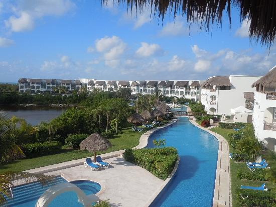"Valentin Imperial Riviera Maya: View from building 6 of the swim up suites and ""lazy river"""