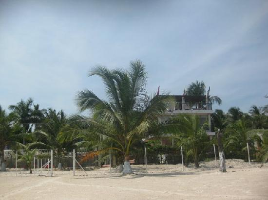 Isla Tierrabomba Hotel: View of the hotel from the beach