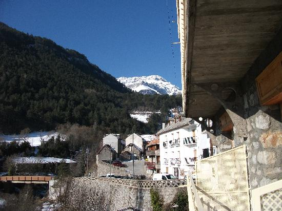 Hotel Valle de Pineta: View from Hotel looking North to Border with France