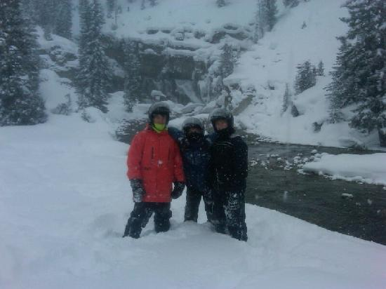 Don T Try This At Home The Guide Has Some Fun Picture Of Jackson Hole Snowmobile Tours