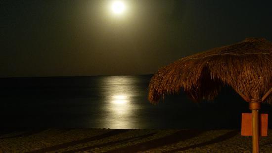Playa Mambo: beach by night