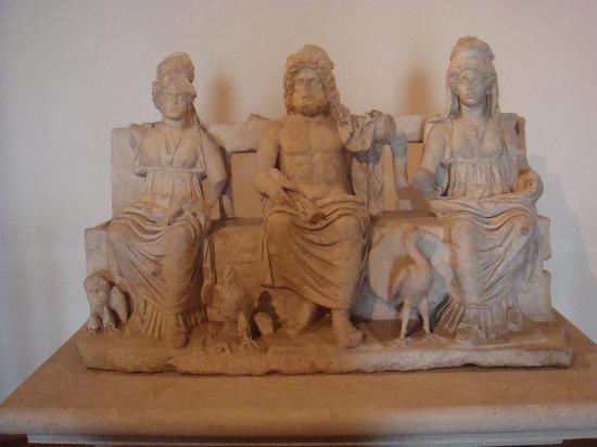 Palestrina, Italy: la Triade capitolina