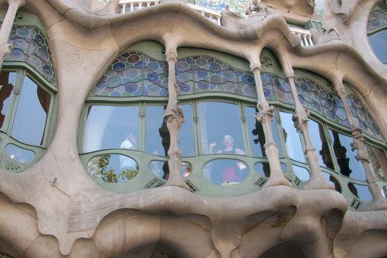 Province de Barcelone, Espagne : particolare di casa Batlo'