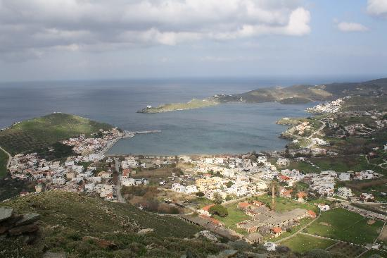 Korissia, Grecja: Port from local hilltop