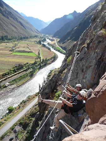 Урубамба, Перу: The ferrata´s bridge