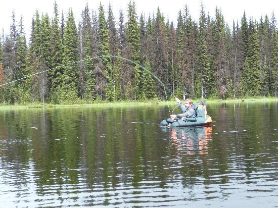 Meadow Lake Fishing Camp: Fish on!