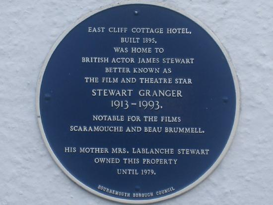 East Cliff Cottage Hotel: Name plate