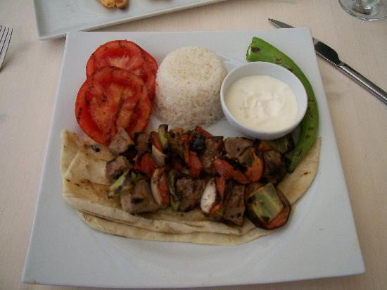 Apollonium Spa & Beach: Kebab from the restaurant
