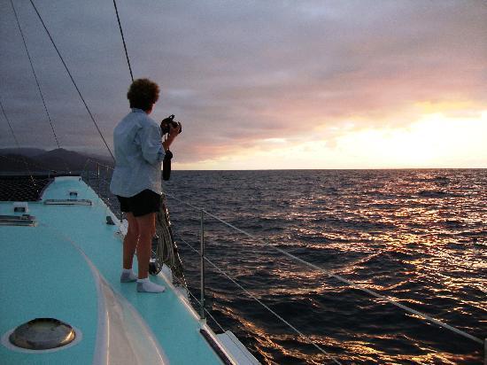 Humu Humu Day Charters: Sunset sailing on Humu Humu