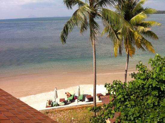 Lanta All Seasons Beach Resort & Spa: andaman sea and terrace