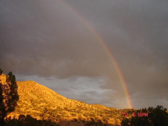 Casitas de Gila Guesthouses: Rainbow forming during monsoon season