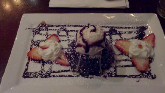 M. J. O'Connor's Irish Pub : Decadent chocolate fudge-filled cake dessert