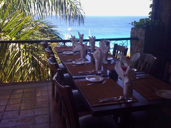 Mustique: Restaurant view