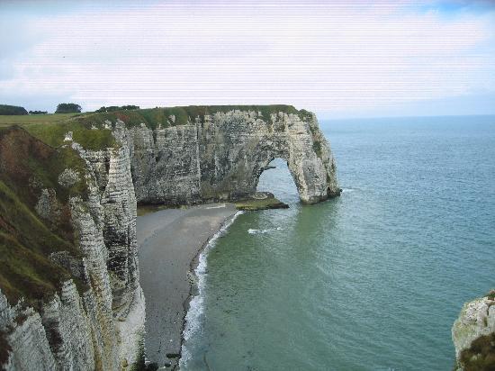 Etretat, فرنسا: panorama spiaggia
