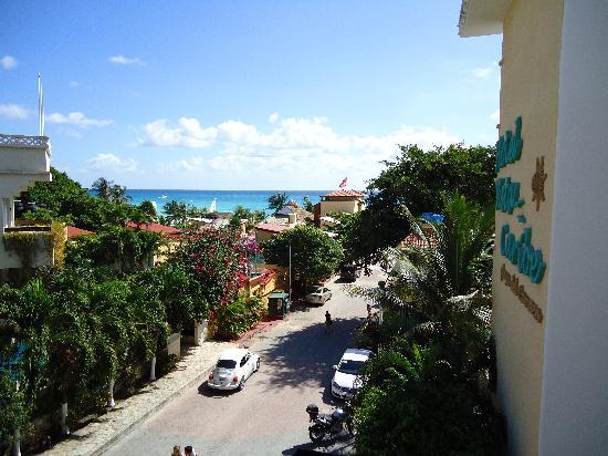 Hotel Vista Caribe: Desde el balcón
