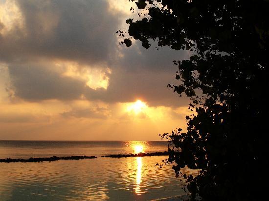 Royal Island Resort & Spa: Sonnenuntergang vom Bungalow aus gesehen