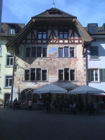 Olten, Suiza: Fassade in Richtung Altstadt.
