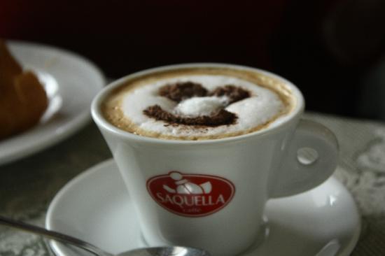 Ovindoli, Italy: Simpatici dettagli del cappuccino
