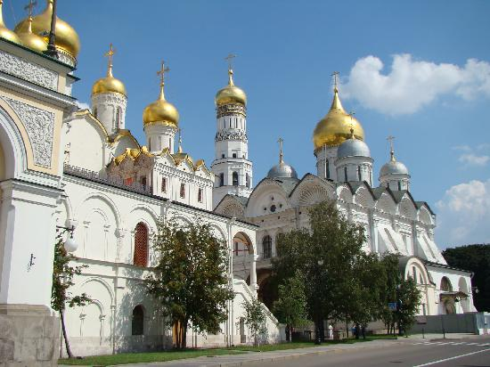 Moskva Kreml: Cremlin - Cathedral of the Archagnel and Cathedral of the Annunciation