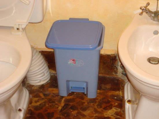 Ocean Paradise Resort & Spa: The bathroom bin