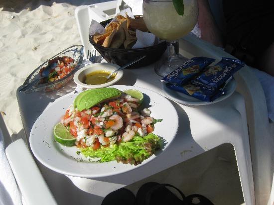 Playa Maya: Ceviche on the beach