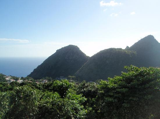 Saba: View from Head of the Sandy Cruz Trail
